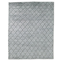 Reverse Raised Diamond Rug - Grey