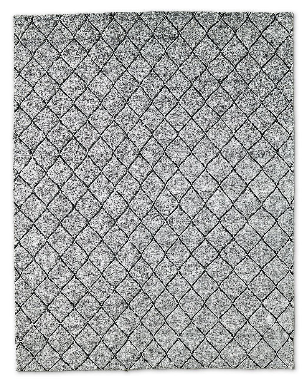 Reverse Raised Diamond Rug - Silver