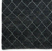 Reverse Raised Diamond Rug Swatch - Charcoal