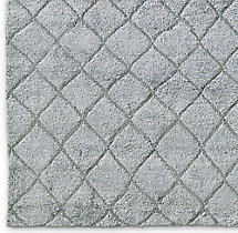 Reverse Raised Diamond Rug Swatch - Grey