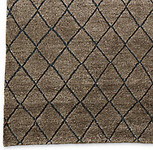 Reverse Raised Diamond Rug Swatch - Mocha