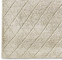 Reverse Raised Diamond Rug Swatch - Sand