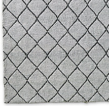 Reverse Raised Diamond Rug Swatch - Silver