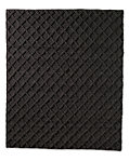 Raised Diamond Wool Rug - Charcoal