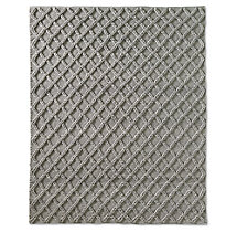 Raised Diamond Wool Rug - Marled