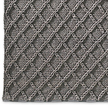 Raised Diamond Wool Rug Swatch - Grey