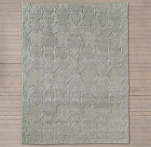 Scala Damask Rug - Grey