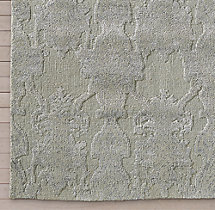 Scala Damask Rug Swatch - Grey
