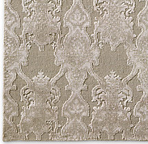 Scala Damask Rug Swatch - Ivory