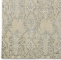 Scala Damask Rug Swatch - Sand