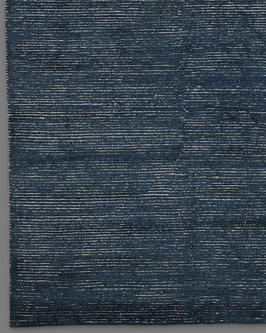 Ribbed Distressed Wool Rug - Slate