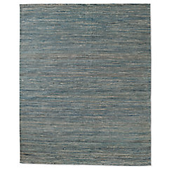 Striped Jute Flatweave Rug - Blue