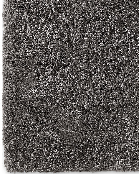 Luxe High Pile Shag Rug Charcoal