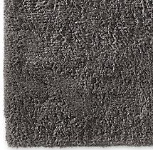 Luxe High-Pile Shag Rug Swatch - Charcoal