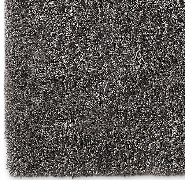 Luxe High Pile Shag Rug Swatch Charcoal