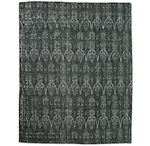 Abstract Ornamento Rug - Charcoal