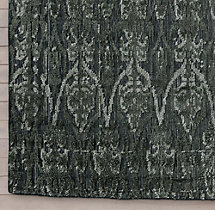 Abstract Ornamento Rug Swatch - Charcoal