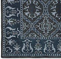Mora Rug Swatch - Charcoal/Blue