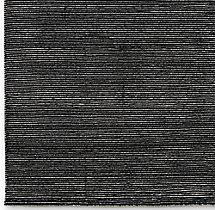 Striped Corte Rug Swatch - Black