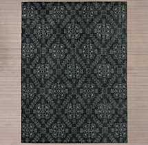 Ornato Hand-Knotted Rug - Black