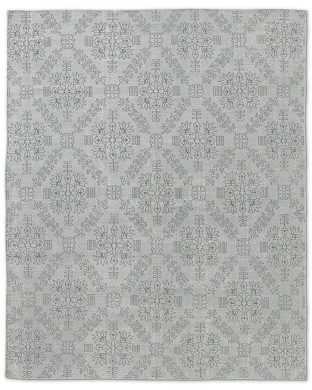 Ornato Hand-Knotted Rug - Silver