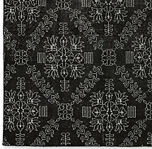Ornato Hand-Knotted Rug Swatch - Black