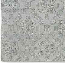 Ornato Hand-Knotted Rug Swatch - Silver