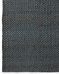 Two-Tone Basket Weave Jute Rug - Dark Silver Blue