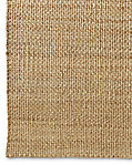 Two-Tone Basket Weave Jute Rug - Natural Bleach