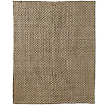 Two-Tone Basket Weave Jute Rug - Silver Platinum