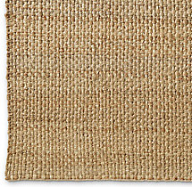 Two-Tone Basket Weave Jute Rug Swatch - Natural Bleach