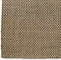 Two-Tone Basket Weave Jute Rug Swatch - Silver Platinum