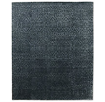 Puerto Rug Charcoal Silver