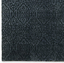 Puerto Rug Swatch - Charcoal/Silver