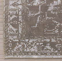 Arte Rug Swatch - Silver/White