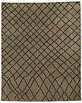 Sketched Diamond Rug - Caramel