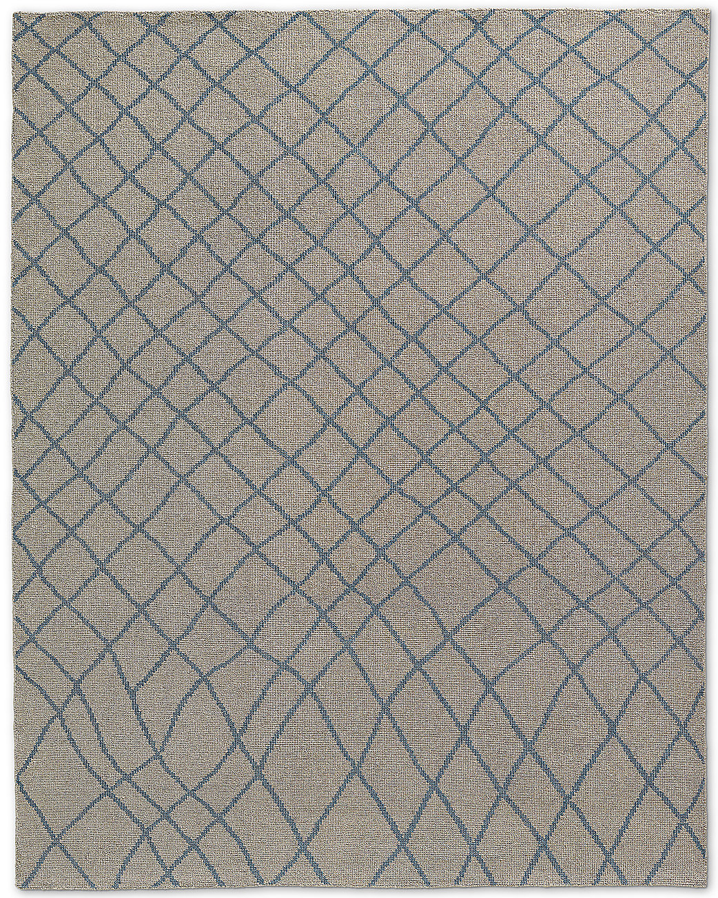Sketched Diamond Rug - Blue