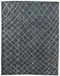 Sketched Diamond Rug - Marine