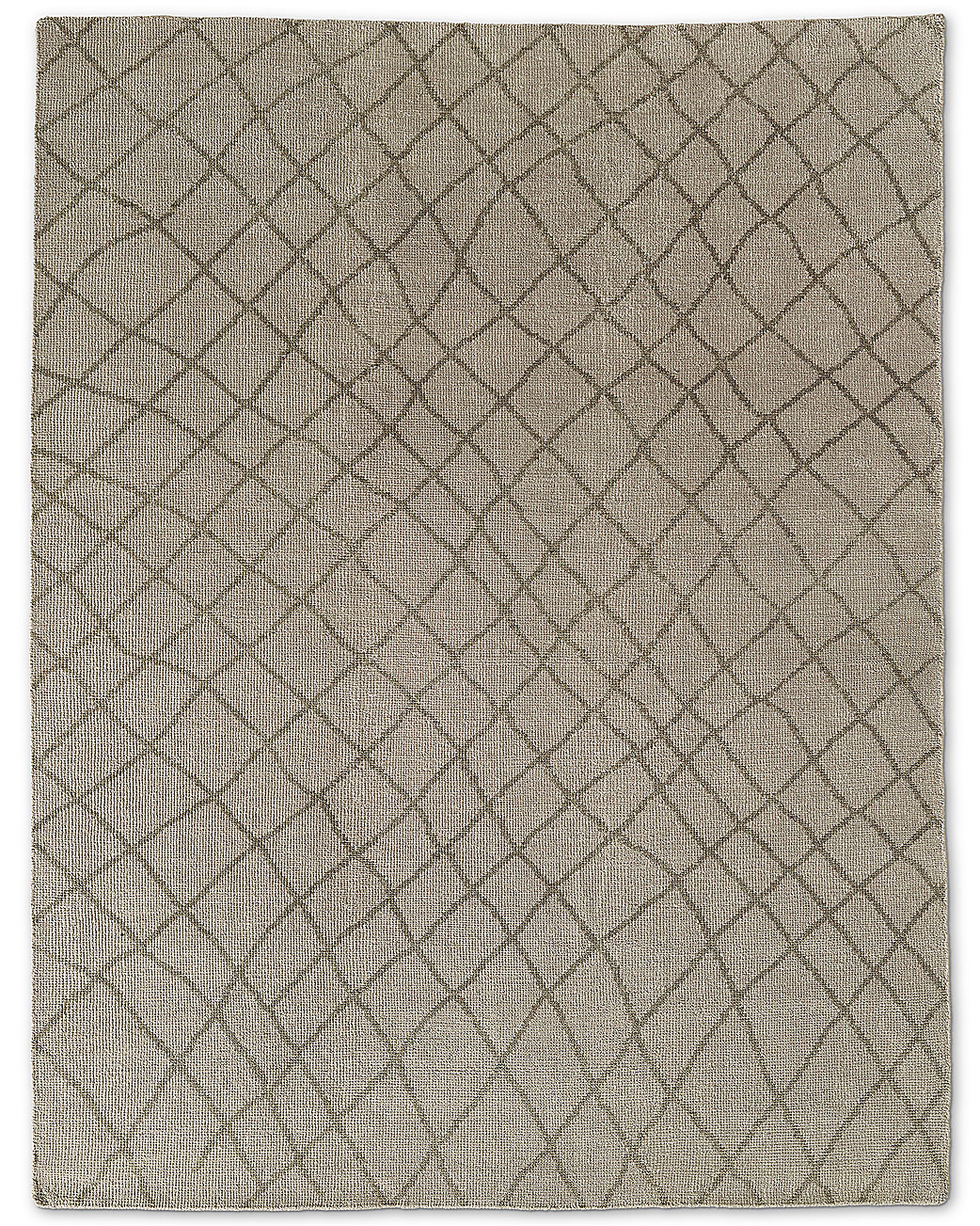 Sketched Diamond Rug Sand