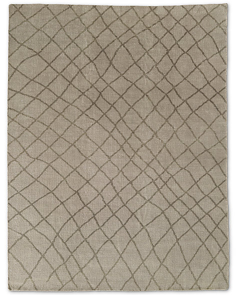 Sketched Diamond Rug - Sand