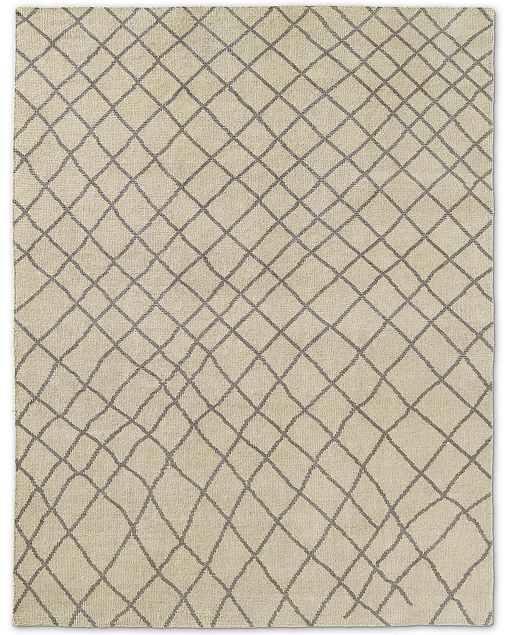 Sketched Diamond Rug - Silver