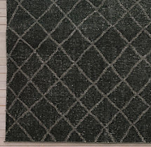 Sketched Diamond Rug Swatch - Charcoal