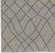 Sketched Diamond Rug Swatch - Blue