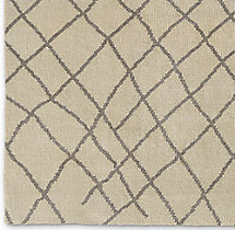 Sketched Diamond Rug Swatch - Silver