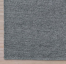 Shaded Loop Rug Swatch - Grey