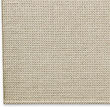 Raised Zigzag Wool Rug Swatch - Cream