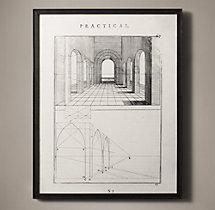 The Practice of Perspective: 18th C. Etchings - Plate #67