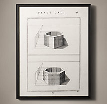 The Practice of Perspective: 18th C. Etchings - Plate #46