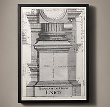 Italian Neoclassical Column Etchings - Ionico