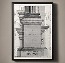 Italian Neoclassical Column Etchings - Romano